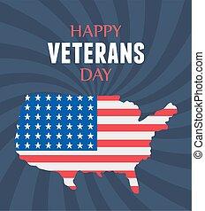 力, 幸せ, 兵士, 旗, アメリカ人, 軍, 私達, 武装させられた, 日, 地図, ベテラン