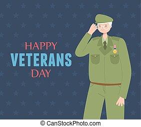 力, 幸せ, 兵士, 軍, 私達, 武装させられた, 日, 特徴, ベテラン