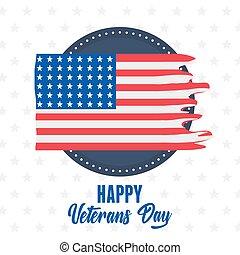 力, 幸せ, 紋章, 兵士, 旗, アメリカ人, ラベル, 軍, 引き裂かれた, 私達, 日, 武装させられた, ベテラン