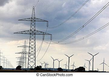 力, 電気, エネルギー, ポーランド人, 選択肢, タービン, 風
