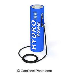 力, 電池, -, ガソリン 場所, hydro