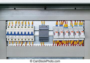 力, relays., 供給, ブレーカ, 中間, 電気の回路, いくつか