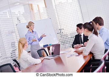 办公室人们, 会议, 商业