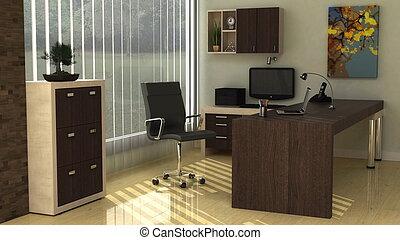 办公室内部, 现代