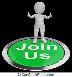加入, 我們, 顯示, 登記, 會員地位, 或者, 俱樂部