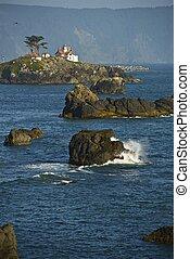 加利福尼亞海岸, 燈塔