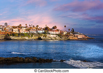 加利福尼亞, la, 海灘, 美國, jolla