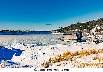 加拿大老, 島, 小室, 釣魚, 世界, 新, nl, 階段