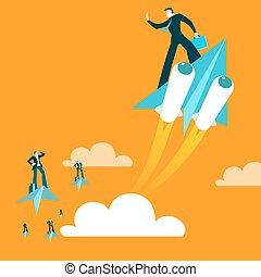 加速, 在上方, 紙, 胜利, 黨, 急速, 推進, 飛機