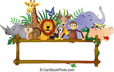 动物, 卡通漫画