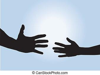 助けになっている手