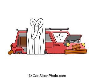 助け, サービス, bandages., 自動車, bandage., 病気, 自動車, 自動車