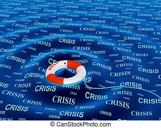 助け, 中に, a, 危機, 状態