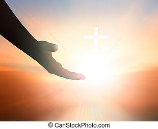 助け, 平和, 日, インターナショナル, 手, 神, concept: