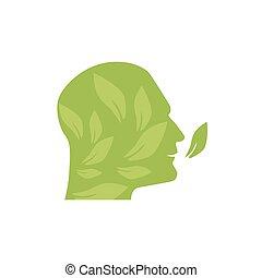 助け, enviroment, イラスト, 目的, ecologic, 緑, 考えなさい