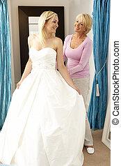 助手, 販売, 花嫁, 結婚式, つらい, 服