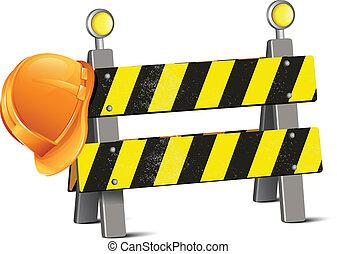 努力, 道路, 帽子, 障碍