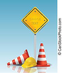 努力, 锥形物, 帽子, 黄色的征候, 交通