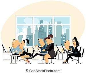 労働者のオフィス, 人々