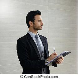 労働者のオフィス, 若い, ビジネス 肖像画, 人