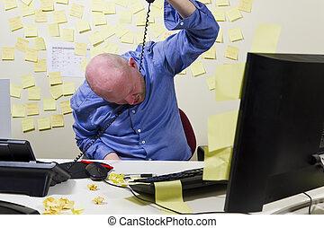 労働者, オフィス, self-injurious