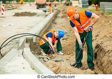 労働者, 上に, a, 道の 構造