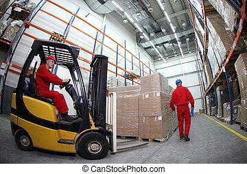 労働者, 仕事, 2, 倉庫