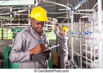 労働者, 執筆, 織物, アメリカ人, アフリカ, レポート