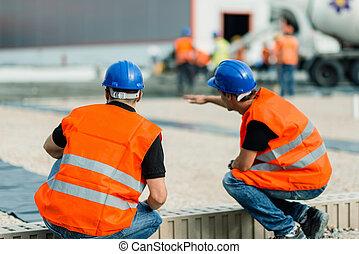 労働者, 建築現場, 仕事