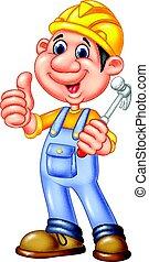 労働者, 建設, 修理人, 漫画