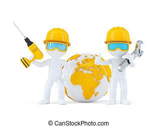 労働者, 建設, 地球