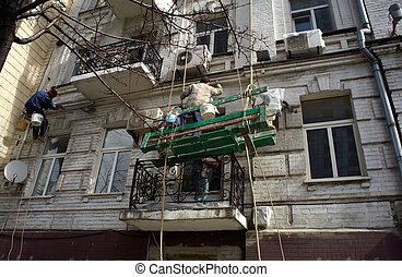 労働者, 建設, 足場