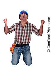 労働者, 建設, shouting., マレ