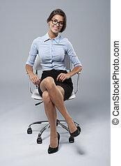 労働者, 快適である, ポジション, 白い衿, 典型的