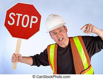 労働者, 止まれ, 建設, 請求, 概念, 何か