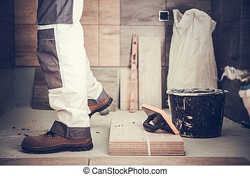 労働者, 浴室, 改造