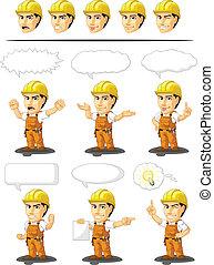 労働者, 産業, cust, 建設