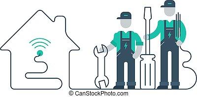 労働者, 道具, ユニフォーム