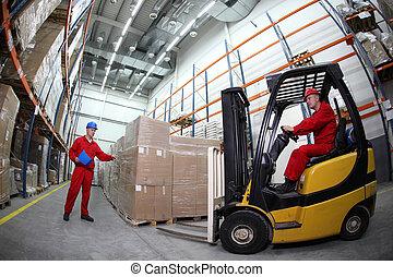 労働者, reloading, パレット, 2
