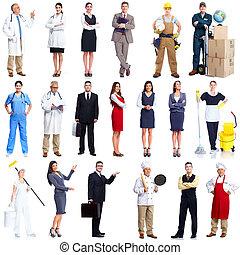 労働者, set., 人々