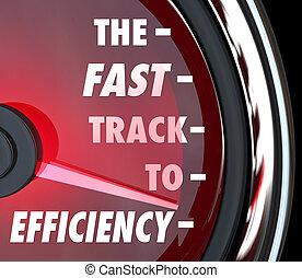 効果的である, トラック, 会社, 速い, ビジネス, 増加, 効率, 言葉, 構成, 努力, 例証しなさい, 速度計, ∥あるいは∥, 赤, 改良しなさい