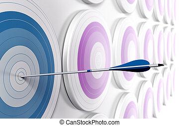 効果, 1(人・つ), 競争, 戦略上である, format., ターゲット, 青, 利点, concept., 薄れていく, ぼやけ, 白, イメージ, ビジネス, 手を伸ばす, マーケティング, 横, 1(人・つ), 中心, 多数, 矢, ∥あるいは∥, 最初に