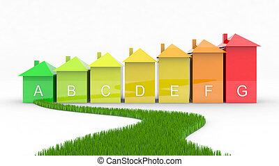 効率, エネルギー, 緑, 方法