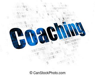 勉強, コーチ, concept:, 背景, デジタル