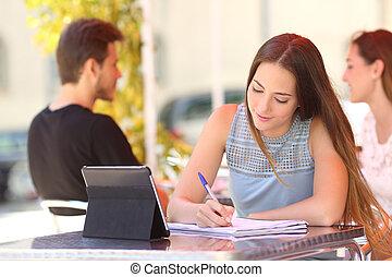 勉強, 取得, バー, メモ, 学生