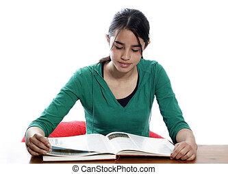 勉強, 女の子