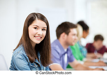 勉強, 学校, コンピュータ, 学生