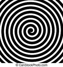 動き, らせん状に動きなさい, 回転, ライン, 背景, 同心である, volute, 円