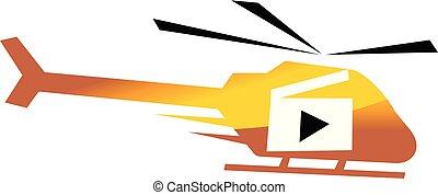動き, ヘリコプター, 航空写真, 生産, ビデオ