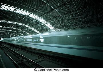 動き, 列車, ぼやけ